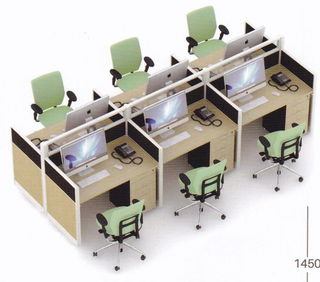 Partisi Kantor Uno 6 Staff